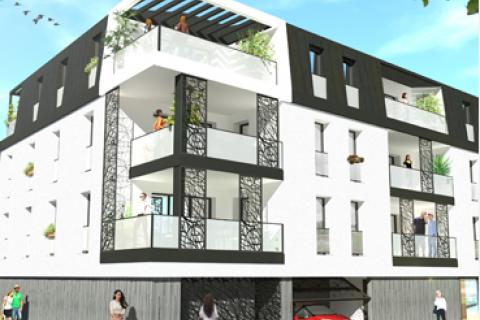 Résidence City logements collectifs à La Roche Sur Yon Arcadial Production charpentier fabricant de bâtiments ossature bois