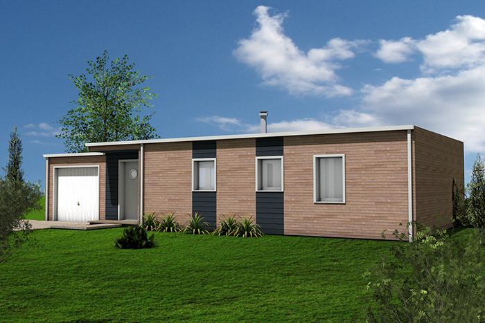 maison design contemporaine baradage naturel et aplat peinture