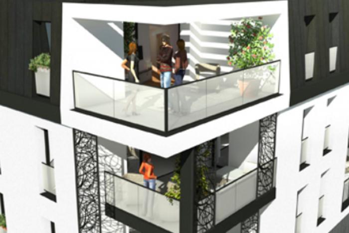 Résidence City logements collectifs 3 à La Roche Sur Yon Arcadial Production charpentier fabricant de bâtiments ossature bois