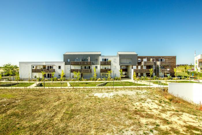 Logements collectifs à Périgny Arcadial Production charpentier fabricant de bâtiments ossature bois