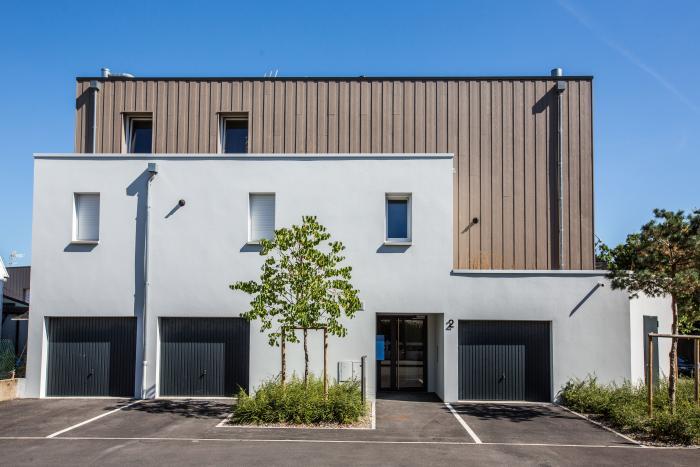 Logements groupés à Nantes Arcadial Production charpentier fabricant de bâtiments ossature bois