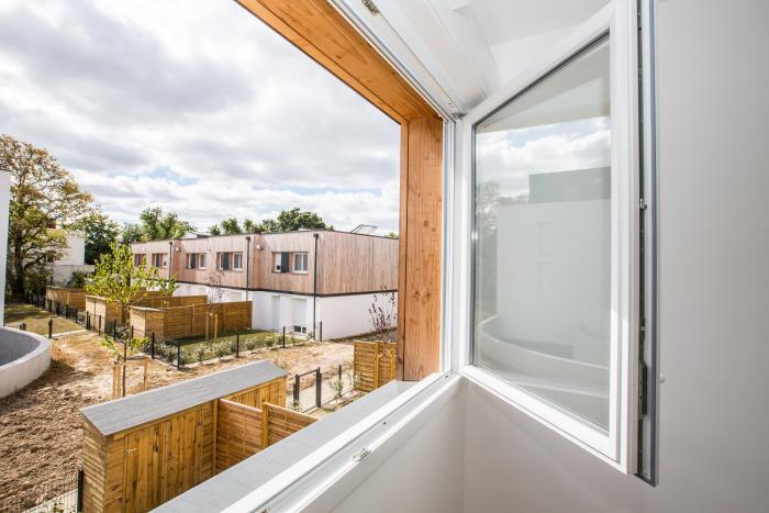 Maisons individuelles groupées à Rezé Arcadial Production charpentier fabricant de bâtiments ossature bois