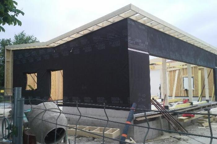 Extension de la Mairie Le Thou Arcadial Production charpentier fabricant de bâtiments ossature bois