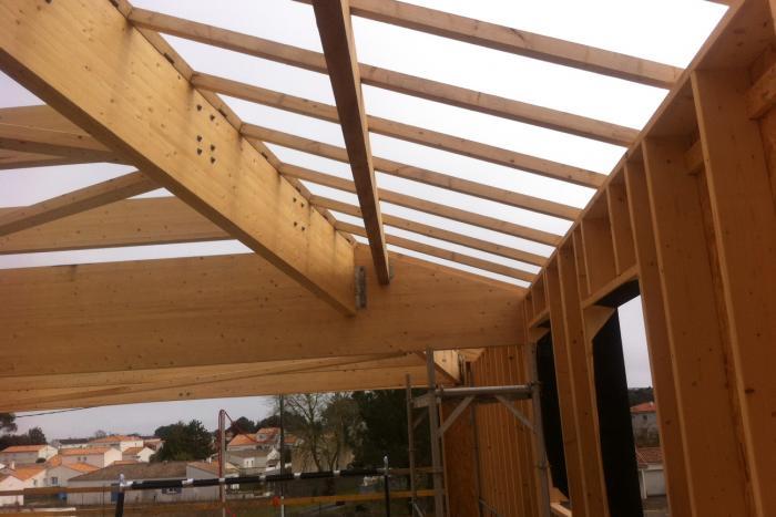Bâtiment public à La Tranche sur Mer Arcadial Production charpentier fabricant de bâtiments ossature bois